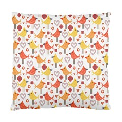 Animal Pattern Happy Birds Seamless Pattern Standard Cushion Case (one Side)