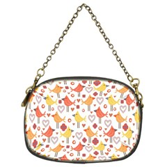 Animal Pattern Happy Birds Seamless Pattern Chain Purses (two Sides)