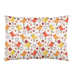 Animal Pattern Happy Birds Seamless Pattern Pillow Case