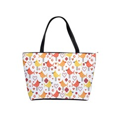 Animal Pattern Happy Birds Seamless Pattern Shoulder Handbags