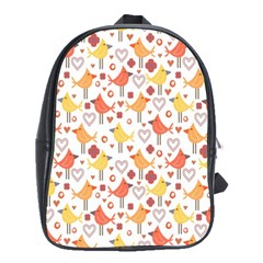 Animal Pattern Happy Birds Seamless Pattern School Bags(large)
