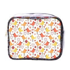 Animal Pattern Happy Birds Seamless Pattern Mini Toiletries Bags