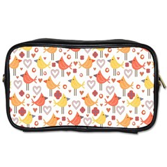 Animal Pattern Happy Birds Seamless Pattern Toiletries Bags