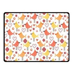 Animal Pattern Happy Birds Seamless Pattern Fleece Blanket (small)