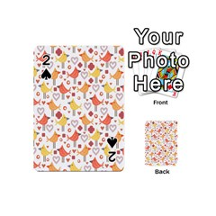 Animal Pattern Happy Birds Seamless Pattern Playing Cards 54 (mini)