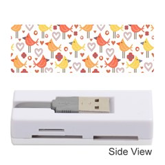 Animal Pattern Happy Birds Seamless Pattern Memory Card Reader (stick)