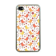 Animal Pattern Happy Birds Seamless Pattern Apple Iphone 4 Case (clear)