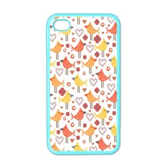 Animal Pattern Happy Birds Seamless Pattern Apple Iphone 4 Case (color)