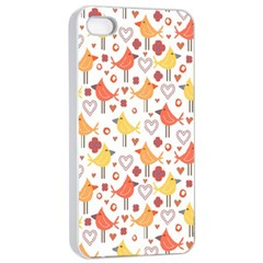 Animal Pattern Happy Birds Seamless Pattern Apple Iphone 4/4s Seamless Case (white)