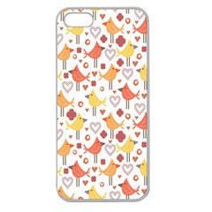 Animal Pattern Happy Birds Seamless Pattern Apple Seamless iPhone 5 Case (Clear)