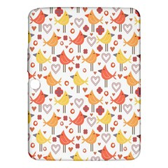 Animal Pattern Happy Birds Seamless Pattern Samsung Galaxy Tab 3 (10 1 ) P5200 Hardshell Case