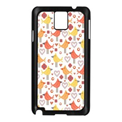 Animal Pattern Happy Birds Seamless Pattern Samsung Galaxy Note 3 N9005 Case (black)