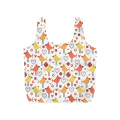 Animal Pattern Happy Birds Seamless Pattern Full Print Recycle Bags (s)
