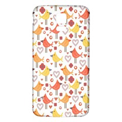 Animal Pattern Happy Birds Seamless Pattern Samsung Galaxy S5 Back Case (white)