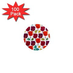 Tree Pattern Background 1  Mini Magnets (100 pack)