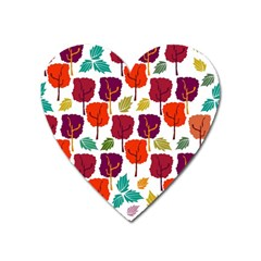 Tree Pattern Background Heart Magnet