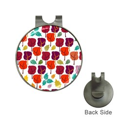 Tree Pattern Background Hat Clips With Golf Markers