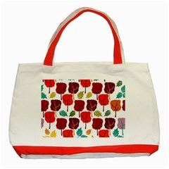 Tree Pattern Background Classic Tote Bag (Red)