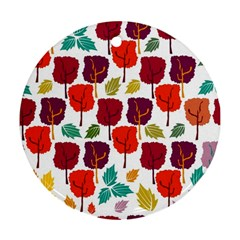 Tree Pattern Background Round Ornament (two Sides)