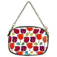 Tree Pattern Background Chain Purses (two Sides)
