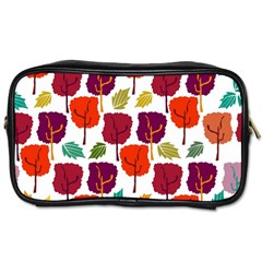 Tree Pattern Background Toiletries Bags 2 Side