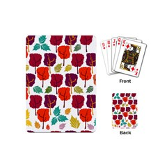 Tree Pattern Background Playing Cards (mini)