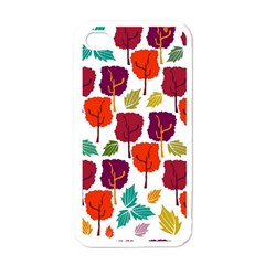 Tree Pattern Background Apple Iphone 4 Case (white)