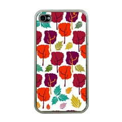 Tree Pattern Background Apple Iphone 4 Case (clear)
