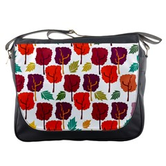 Tree Pattern Background Messenger Bags