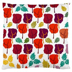 Tree Pattern Background Large Cushion Case (one Side)
