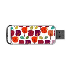 Tree Pattern Background Portable Usb Flash (one Side)