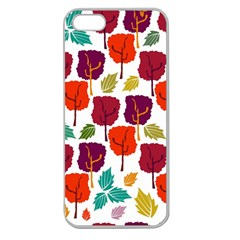 Tree Pattern Background Apple Seamless iPhone 5 Case (Clear)