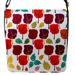 Tree Pattern Background Flap Messenger Bag (s)