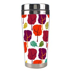 Tree Pattern Background Stainless Steel Travel Tumblers
