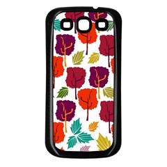 Tree Pattern Background Samsung Galaxy S3 Back Case (black)