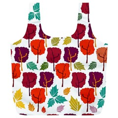 Tree Pattern Background Full Print Recycle Bags (L)
