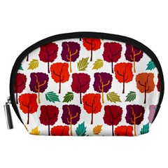 Tree Pattern Background Accessory Pouches (large)