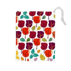 Tree Pattern Background Drawstring Pouches (large)
