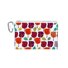 Tree Pattern Background Canvas Cosmetic Bag (s)