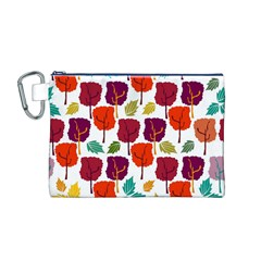 Tree Pattern Background Canvas Cosmetic Bag (m)