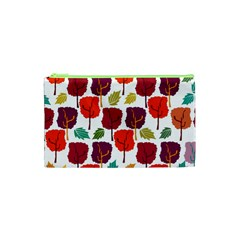 Tree Pattern Background Cosmetic Bag (xs)