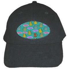 Meow Cat Pattern Black Cap