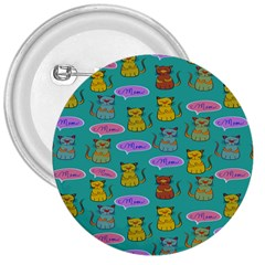 Meow Cat Pattern 3  Buttons