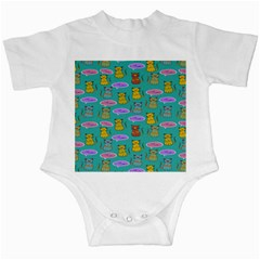 Meow Cat Pattern Infant Creepers