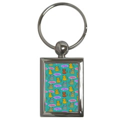 Meow Cat Pattern Key Chains (rectangle)