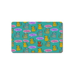 Meow Cat Pattern Magnet (name Card)