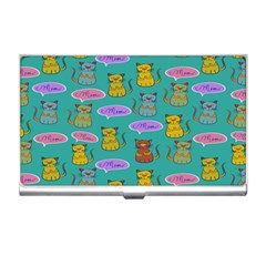 Meow Cat Pattern Business Card Holders