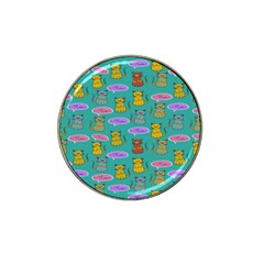 Meow Cat Pattern Hat Clip Ball Marker (4 pack)