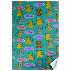 Meow Cat Pattern Canvas 20  x 30