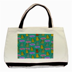 Meow Cat Pattern Basic Tote Bag (two Sides)